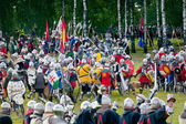 Medieval Knights at Battle of Grunwald 1410 — Stock Photo