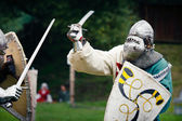 Duel in the medieval times — Photo