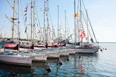Gdynia, sailboats in port — Stock Photo