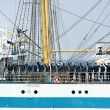 Stock Photo: Crew members of tall ship MIR