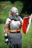 Medieval Knight ready to fight — Stock Photo