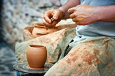 Pottery - Wheel Wedging Clay — Stock Photo