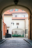 Old Town architecture - Dziekania Street in Warsaw City — Stock Photo