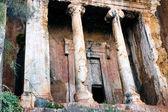 Lycische graven in fethiye, turkije - graf van amyntas — Stockfoto