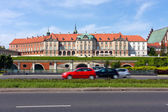 Royal Castle east side, Warsaw City — Stock Photo