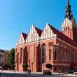 Stock Photo: ELBLAG CITY -  St. Nicholas Cathedral Gothic church