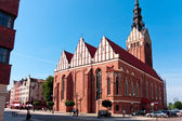 ELBLAG CITY -  St. Nicholas Cathedral Gothic church — Stock Photo
