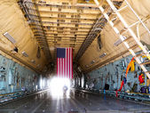 Lockheed C-5 Galaxy, cargo hold interior — Stock Photo