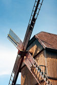 Windmill sails, Old wooden  windmill — Stockfoto
