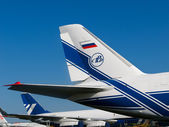 Tail wings of AN-124-100 airplane — Stock Photo