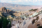 Uchisar in Cappadocia  - Turkish volcanic landscape  — Stock Photo