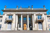 Front of the neoclassical Palace in Warsaw in Royal Baths — Stock Photo
