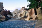 Cappadocia christian churches in volcanic rocks — Stock Photo