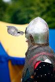 Medieval Knight profile — Stock Photo