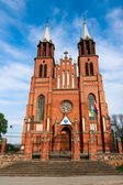Neogothic Church in Plonka Koscielna, Poland — Stock Photo