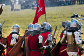 Armored Medieval Knights — Stock Photo