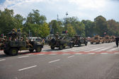 Military convoy. Polish forces — Stock Photo