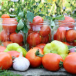 Canning tomatoes at home — Stock Photo #12640324