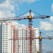 The construction of modern residential building — Stock Photo