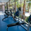 Fitness room with views of nature — Stock Photo #13510711