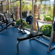 Fitness room with views of nature — Stock Photo #13510714