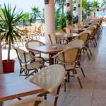 Interior open air restaurant — Stock Photo