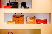Showcase of fashion shop — Stock Photo