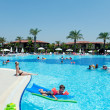Swimming pool open-air, Turkey - Stock Photo