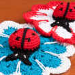 Knitted cloths ladybug — Stock Photo #18787083