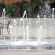 Fountain in outdoor cafe in Turkey — Stock Photo #21701339