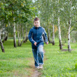 Boy is on path in park — Stock Photo #22309523