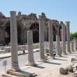 The ruins of the ancient city of Side, Turkey - Stock Photo