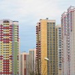 Stock Photo: Modern multistory residential buildings in Moscow, Russia