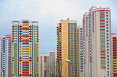 Modern multistory residential buildings in Moscow, Russia — Stock Photo