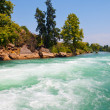 Manavgat river in Turkey - Stock Photo