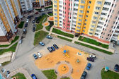 Courtyard of an apartment building in the city, the view from above — Stock Photo