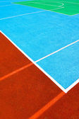 Basketball court, a fragment of markup in three colors — Stock Photo
