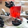 Compote of black chokeberry — Stock Photo