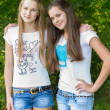 Teen girls in the park — Stock Photo #35396223