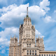 Stalin skyscraper on waterfront in Moscow, Russia — Stock Photo #35955825