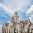 Stalin skyscraper on waterfront in Moscow, Russia — Stock Photo #35955849