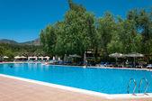 Swimming pool outdoor, Turkey — Stock Photo