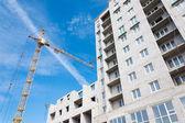 Under construction housing brick house — Stockfoto