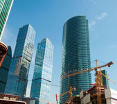 Construction of skyscrapers Moscow City, Russia — Stockfoto