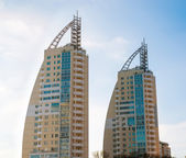 Modern apartment building in Moscow, Russia — Stock Photo