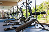Fitness Facilities with views of nature — Stock Photo