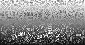 2014 yılı arka plan — Stok fotoğraf