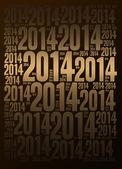 2014 Year background — Stock Photo