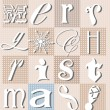 Stock Photo: Christmas typographic collage