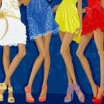 Glamour girls — Stock Vector
